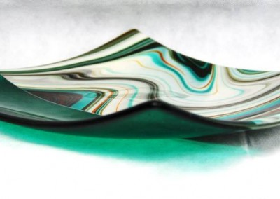 wavy glass dish
